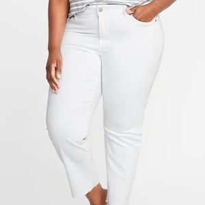 High-Waisted  Power Slim Straight Plus Jeans New